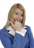 Upset business woman Stock Images