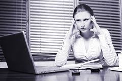 Upset business woman Royalty Free Stock Photo
