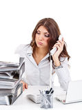 Upset business woman Royalty Free Stock Photos