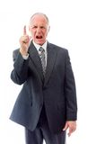 Upset businessman scolding somebody Royalty Free Stock Photo