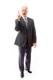 Upset businessman scolding somebody Royalty Free Stock Images