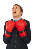 Upset businessman shouting Royalty Free Stock Photography