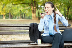 Upset businesswoman Stock Images