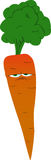 Upset carrot Royalty Free Stock Photo