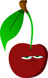 Upset cherry Royalty Free Stock Photo