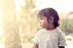 Upset child in the park Royalty Free Stock Photos