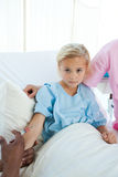 Upset child patient receiving an injection Royalty Free Stock Photography