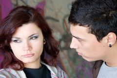 Upset couple Royalty Free Stock Photo