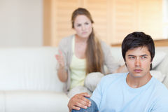 Upset couple arguing Royalty Free Stock Photo