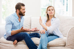Upset couple arguing with each other Stock Photography
