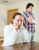 Upset couple during conflict Royalty Free Stock Images