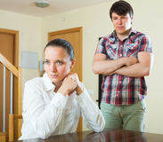 Upset couple during conflict Royalty Free Stock Photos