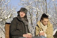 Free Upset Couple Drinking Tea Stock Image - 17398141