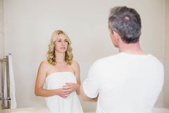 Upset couple having an argument Royalty Free Stock Image