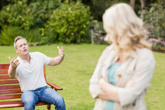 Upset couple having an argument Royalty Free Stock Photography