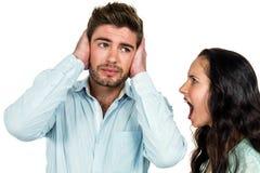 Upset couple having argument Royalty Free Stock Image