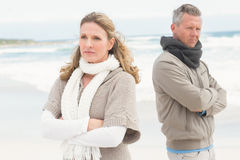 Upset couple look away from each other Royalty Free Stock Images