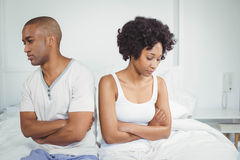 Upset couple not talking after argument Royalty Free Stock Photography