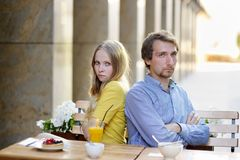 Upset couple not talking to each other Royalty Free Stock Photography