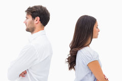Upset couple not talking to each other after fight Royalty Free Stock Photo