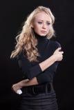 Upset crying woman. tragic expression. Royalty Free Stock Photography