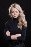 Upset crying woman. tragic expression. Royalty Free Stock Photography