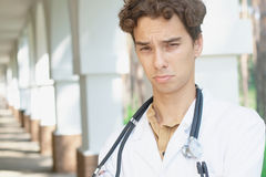 Upset doctor Royalty Free Stock Photo