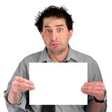 Upset Document Guy Royalty Free Stock Photo
