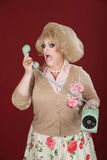 Upset Drag Queen on Phone Stock Images