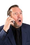 Upset Elderly Businessman Stock Photography