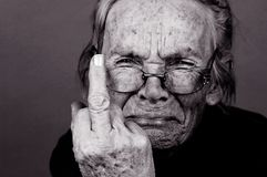 Upset Elderly Woman Royalty Free Stock Images
