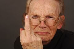 Upset Elderly Woman Royalty Free Stock Photography
