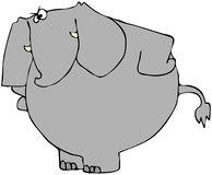 Upset Elephant. This illustration depicts an upset elephant with its arms on the hips Stock Images