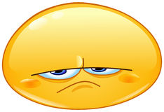 Upset emoticon Stock Image