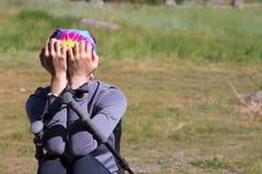 Upset Female Hiker Royalty Free Stock Photo