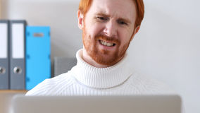 Upset and Frustration for Man with Red Hair Stock Photography