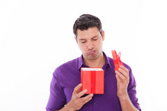 Upset gift stock photography