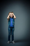 Upset girl Royalty Free Stock Images