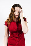 Upset Girl. Young woman suffers from upset Royalty Free Stock Photography