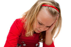 Upset girl Royalty Free Stock Photos