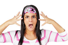 Upset gypsy woman Royalty Free Stock Images