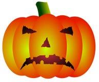 Upset halloween pumpkin vector Stock Image