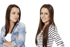 Upset and happy teenager Royalty Free Stock Photography