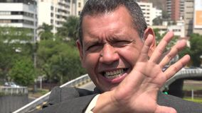 Upset Hispanic Business Man Complaining. Stock video in 4k or HD resolution stock video footage