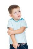 Upset kid boy Stock Image