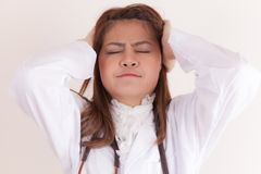 Upset lady doctor Royalty Free Stock Images