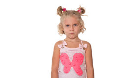 Upset little blonde girl Royalty Free Stock Photo