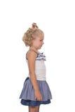 Upset little blonde girl Stock Images