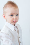 Upset little boy Royalty Free Stock Image