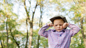 Upset little boy Stock Images